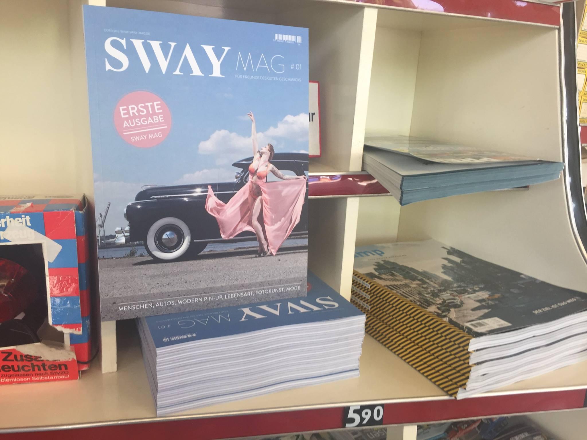 Das SWAY MAG #01 ist an der Oldtimertankstelle Brandshof erhältlich