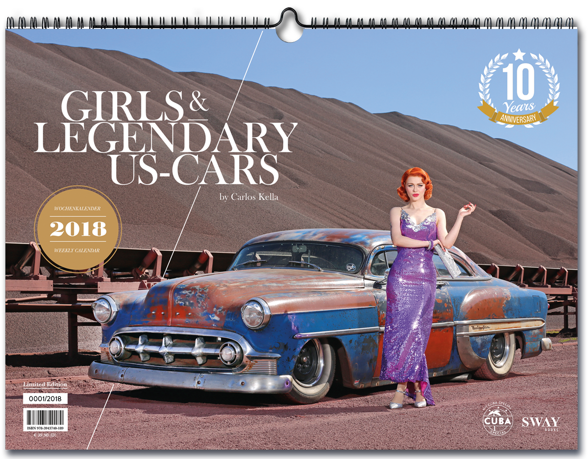 """Girls & legendary US-Cars"" 2018 Kalender von Carlos Kella"