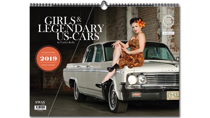 GIRLS & LEGENDARY US-CARS 2019 KALENDER