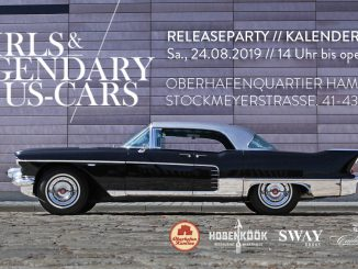"Am Samstag, den 24. August 2019 startet die ""Girls & legendary US-Cars"" 2020 Kalender-Releaseparty von Carlos Kella & SWAY Books"