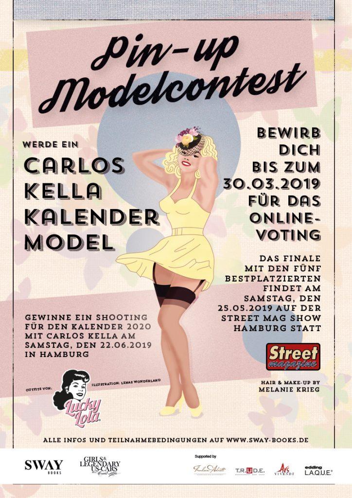 """Gewinne ein Fotoshooting für den """"Girls & legendary US-Cars"""" 2010 Wochenkalender mit Carlos Kella am Samstag, den 22.06.2019 in Hamburg."""