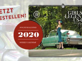 Der Girls & legendary US-Cars 2020 Wochenkalender von Carlos Kella ist jetzt bei SWAY Books vorbestellbar!