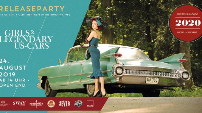 Girls & legendary US-Cars 2020 Kalender-Releaseparty am Samstag, den 24. August ab 14:00 Uhr im Hamburger Oberhafen – Das Programm
