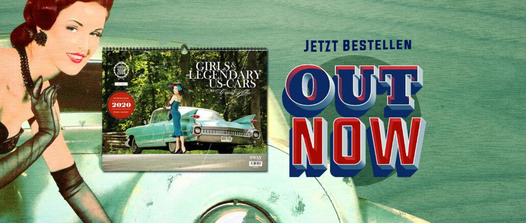 OUT NOW! Der Girls & legendary US-Cars 2020 Wochenkalender von Carlos Kella ist jetzt bei SWAY Books lieferbar.