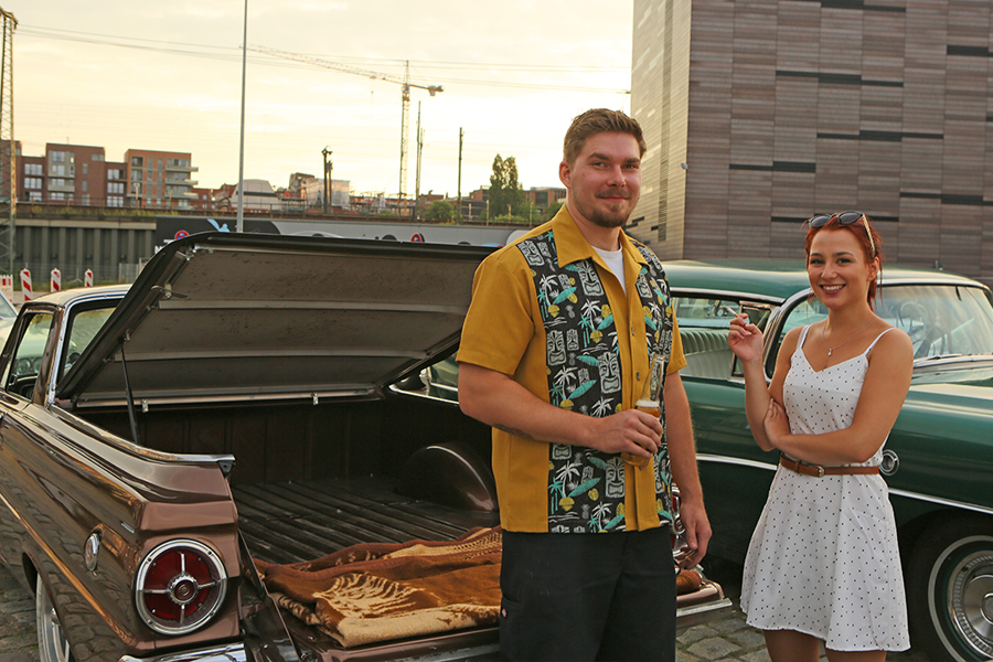 Autokino im Hamburger Oberhafen mit Carlos Kella.