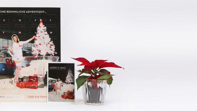 Der Carlos Kella Schokoladen-Adventskalender 2020 mit Cars & Girls-Motiv und passender Weihnachtspostkarte ist da!