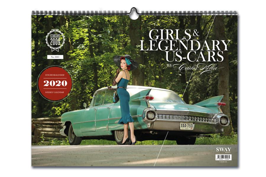 Girls & legendary US-Cars 2021 Wochenkalender